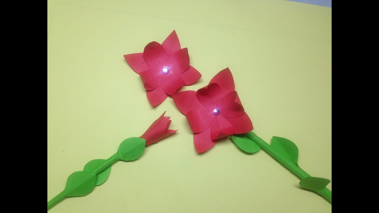 How to make an easy origami flower - YouTube | 720x1280