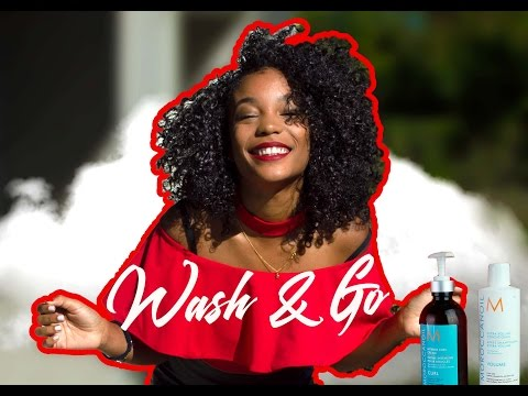 Wash and Go w/ Moroccan Oil @cindy_pdl + Séchage au diffuseur