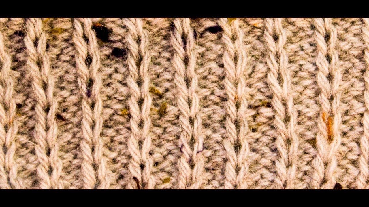 How to knit Slip Stitch Rib Purl 2 Knit 1 WIKA Crochet - YouTube
