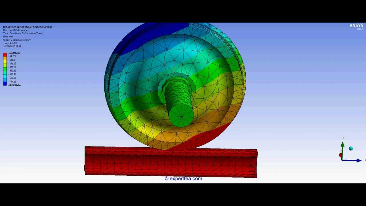 Pistol 3d Wallpaper Ansys Wb Static Structural Fea Simulation Of Rotating A