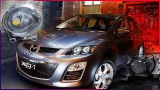 Mazda CX 7 2011 г. в.  Замена ГАЛОГЕННЫХ линз Hella