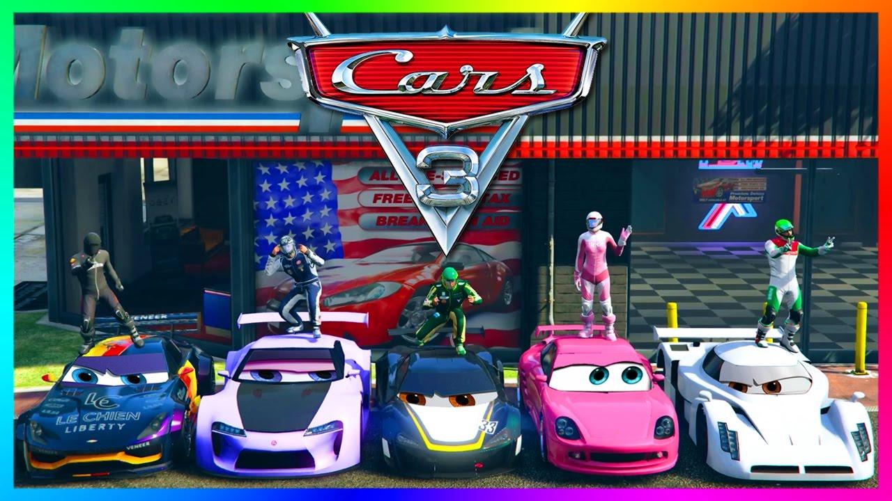 GTA ONLINE PIXAR: CARS 3 MOVIE SPECIAL - GTA 5 LIGHTNING ...
