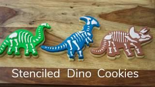 How to Stencil Dinosaur Cookies | Sneak Peak | Global Sugar Art