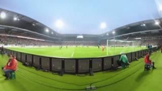 360° - A emoção de estar em campo em um SV Werder Bremen vs. VfB Stuttgart