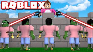 BUILD AND KILL THE ZOMBIES AND MONSTERS Cerso roblox in Spanish