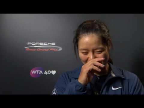 Li Na 2013 Porsche Tennis Grand Prix SF Interview