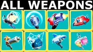Meow Motors - All Power-ups & Weapon Upgrades Showcase (Indie Racing Game 2018)
