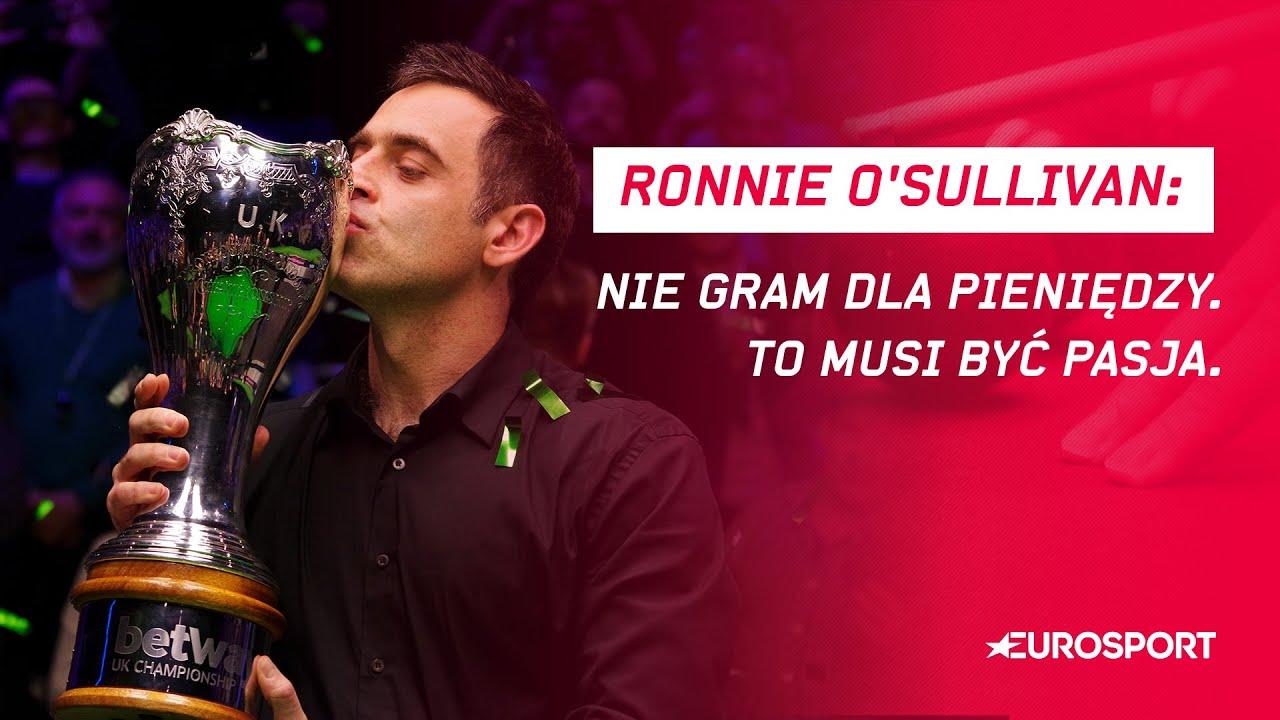 Snooker. Ronnie O'Sullivan: Nie gram dla pieniędzy. To musi być pasja.