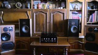 Acoustic Research AR6 vs. KEF model 104 driven by Sansui AU-555A & Akai CD-M300