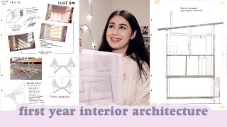 First Year Interior Architecture Portfolio: examples, tips, course overview