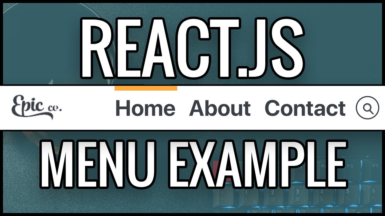 React Navigation Menu Example - React JS Component Example