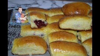 Дрожжевые пирожки с вишней в духовке. По семейному рецепту от бабушки