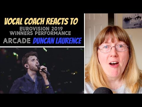 Vocal Coach Reacts to Duncan Laurence 'Arcade' Winners Performance - Eurovision 2019
