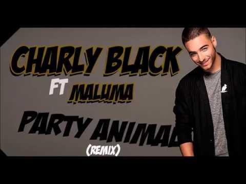 Charly Black Ft Maluma - Party Animal Remix [LYRICS]