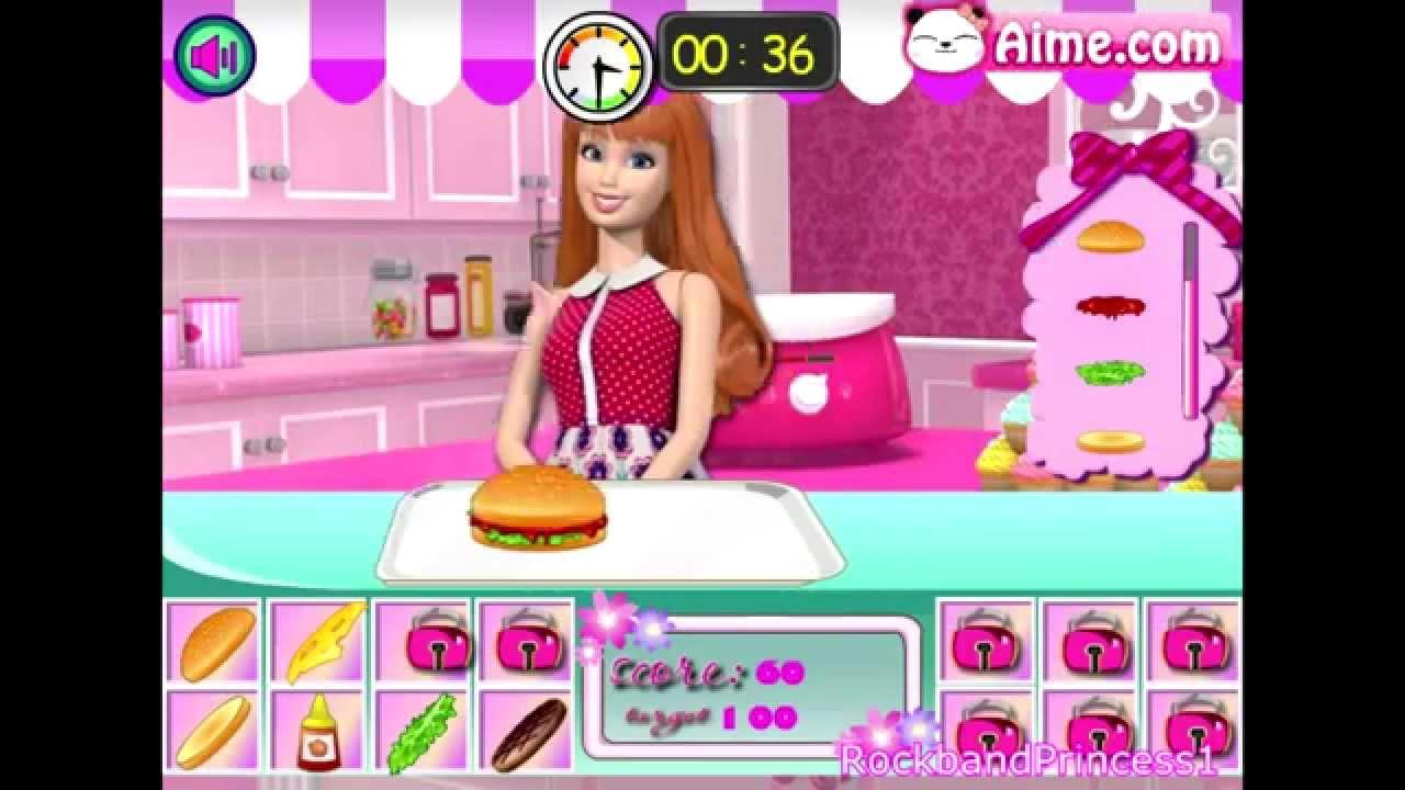 Barbie Games Barbie Life In The Hamburger Shop Barbie