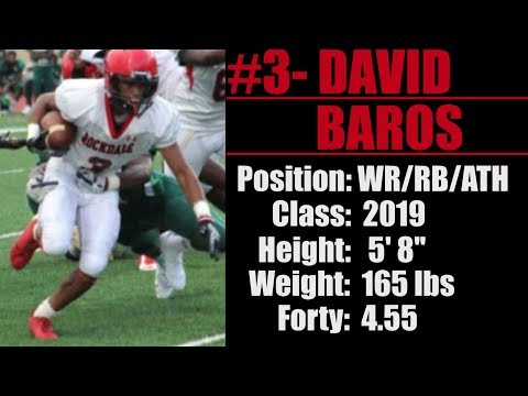2019- Street Light Recruiting- WR/RB- David Baros -Rockdale County High School (Conyers, GA)