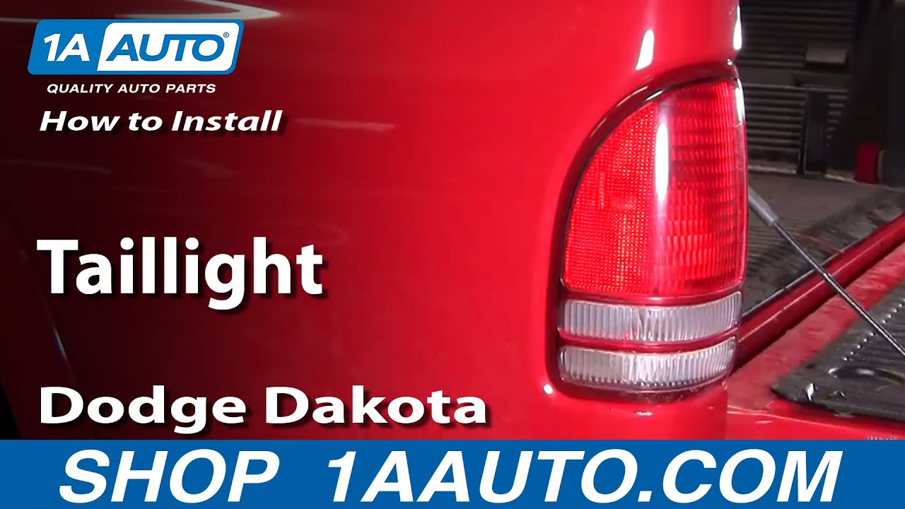 how to install replace taillight dodge dakota 97