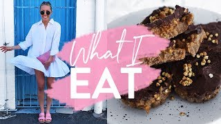 WHAT I EAT IN A DAY | Healthy Salted Caramel Slice + Fat Burning Boxing!