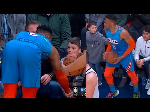 Bill Reed - Watch what happens when a young fan pokes Russell Westbrook