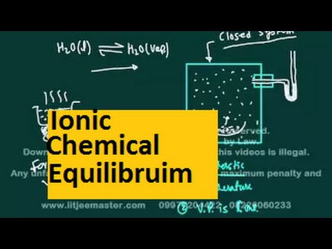 iit jee chemistry lectures | Ionic chemical equilibruim