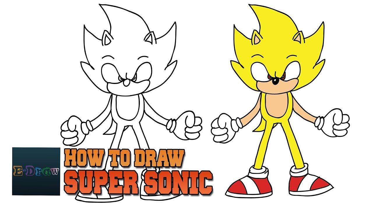 How to Draw Super Sonic Como DIBUJAR A Dark Sonic The ...