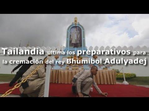 Tailandia ultima los preparativos para el funeral del rey Bhumibol Adulyadej