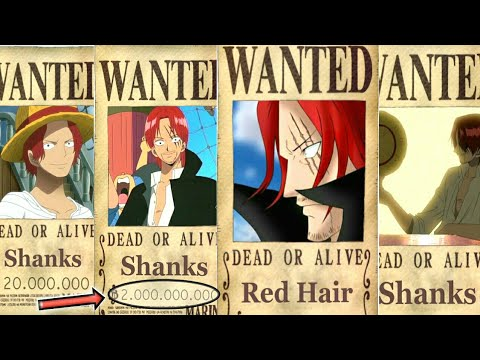 SHANKS' Evolution BOUNTY From The Start Until The End Of ... | 480 x 360 jpeg 43kB