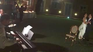Music wedding Italy Blue moon jazz trio When I fall in love First danceMusica matrimonioRoma Tuscany