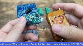 4 Channel RF 315MHz Remote Control , Schematic and PCB Avaitable