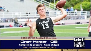 C/O 2020 Grant Harper - QB Campolindo Cougars | GSF HS Football Showcase
