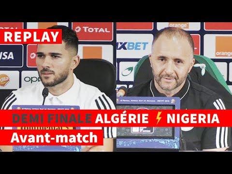 REPLAY - CAN-2019 | Avant-match Algérie-Nigeria: conf de presse de Djamel Belmadi et Mehdi Abeid