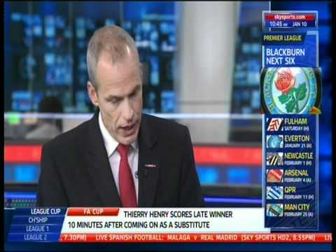 Jerome Anderson live in the Sky Sports News studio