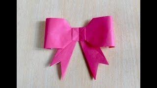 Cara membuat pita. Origami. Seni melipat kertas.