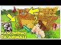 NASCONDINO DA ANIMALI TRASFORMATI IN MINI-SILVERFISH! - Minecraft ITA