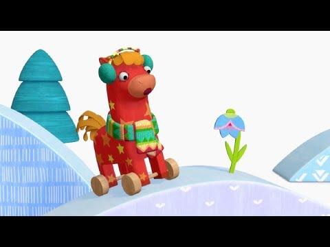 Деревяшки - Круглый год - развивающие мультфильмы для самых маленьких 0-4 HD
