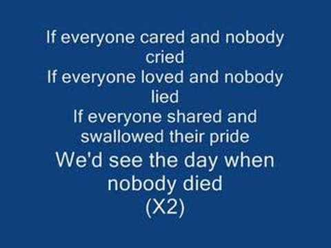 Nickelback If Everyone Cared (Cap-Lyrics)
