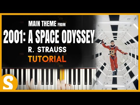 How to play 2001: A Space Odyssey Theme   R Strauss  Synthesia Piano Tutorial HD