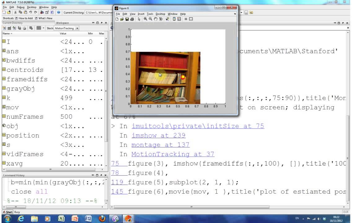 object tracking in matlab