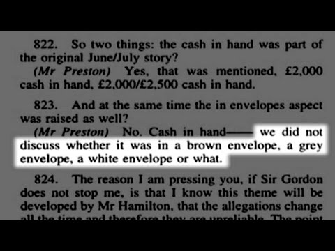 Cash for Questions 37: Peter Preston's perjurious witness statements