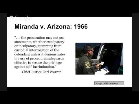 the impact of the 1966 case of miranda v arizona Miranda v arizona case brief united states supreme court 384 us 436 (1966) issue: must a suspect be informed of his constitutional rights against self-incrimination and assistance of counsel and give a voluntary waiver of these rights as a necessary precondition to police questioning and the giving of a confession.