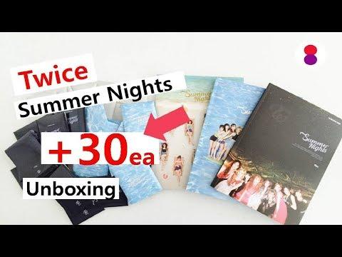 트와이스 개봉 Twice 2nd special album summer Nights トゥワイススペシャル2集