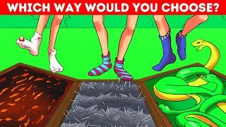 🔉Make Your Choice To See If You're Smart! Tricky Riddles!