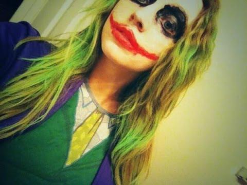 quick easy joker halloween makeup for guys or girls youtube - Joker Halloween Costume For Females