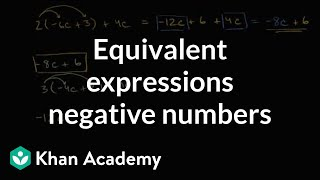 Equivalent Expressions With Distribution And Negative Numbers