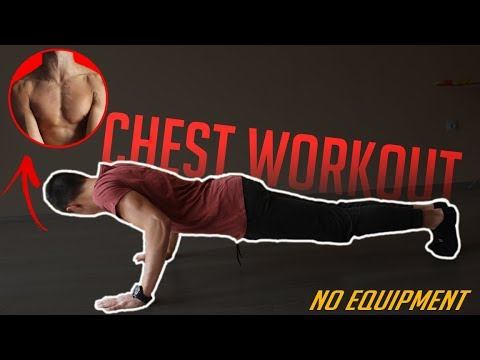 home chest workout no equipment  youtube