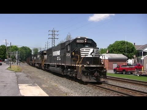 Trains on the Norfolk Southern Harrisburg Line Late Spring 2014