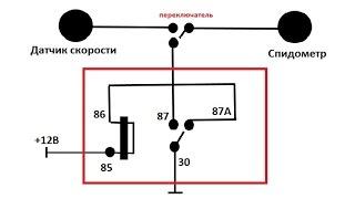 Подмотка (намотка) одометра (Спидометра) на базе РЕЛЕ