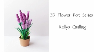 3D Quilling Flower Pot Series   Quilling Flower Pot 1