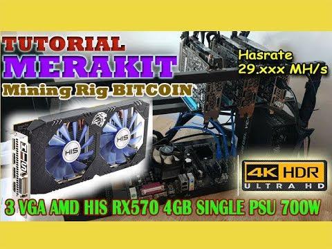 DIY   3 GPU Mining rig Bitcoin HIS RX570 feat Single PSU ...