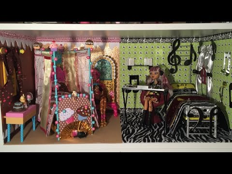 HOW TO MAKE A DORM ROOM FOR GINGER BREADHOUSE & MELODY PIPER [EVER AFTER HIGH]